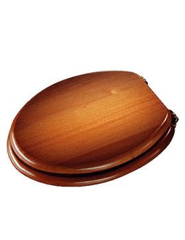 Croydex Antique Pine Chrome Solid Wood Toilet Seat