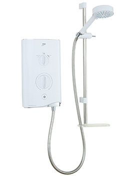 Mira Sport Thermostatic Electric Shower 9.8kW White And Chrome