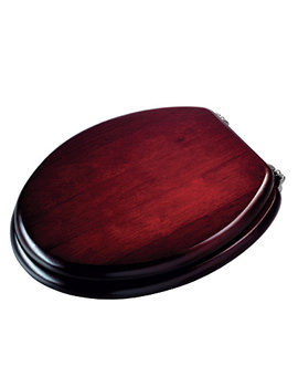 Croydex Mahogany Solid Wood Toilet Seat