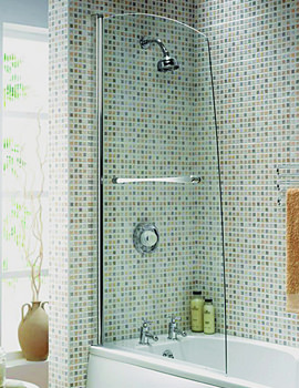 Aqualux Aqua 5 Sail Bath Screen 820 x 1500mm