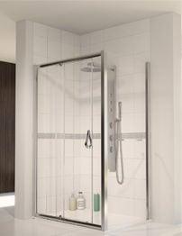 Aqualux Aqua 6 Sliding Shower Door 1700mm Polished Silver