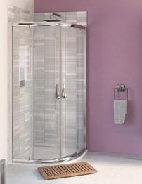 Aqualux Aqua 6 Quadrant Shower Enclosure 900mm Polished Silver