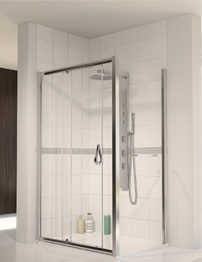 Aqualux Aqua 6 Sliding Shower Door 1000mm Polished Silver
