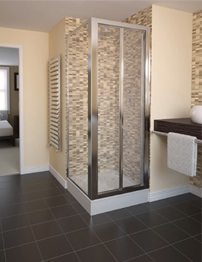 Aqualux Aqua 4 Bi-Fold Shower Door 900mm White