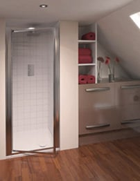 Aqualux Aqua 4 Pivot Shower Door 900mm White