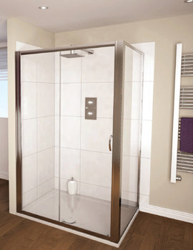 Aqualux Aqua 4 Sliding Shower Door 1200mm White