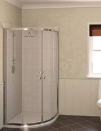 Aqualux Aqua 4 Quadrant Shower Enclosure 800 x 800mm Polished Silver