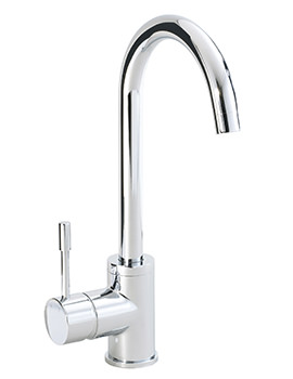 Phoenix Round Single Lever Kitchen Sink Tap With Swivel Spout