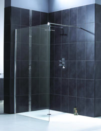 Aqualux Shine Shower Panel 900mm Polished Silver