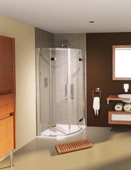 Aqualux Aqua 8 Hinge Quadrant Shower Enclosure 900 x 900mm