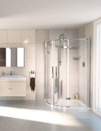 Aqualux Aqua 8 Hinge Offset Quadrant Shower Enclosure 1200 x 800mm