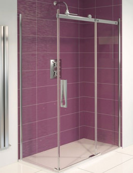 Aqualux Aqua 8 Roller Sliding Door and Side Panel 1200 x 800mm