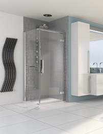Aqualux Aqua 8 Hinge Pivot Door 800mm With 800mm Side Panel