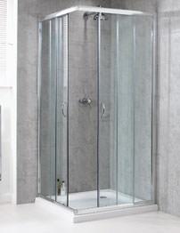 Aqualux Shine Corner Entry Shower Enclosure 900mm Polished Silver