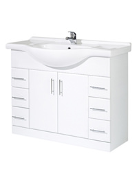 Phoenix Euro White Base Unit And Basin 850 x 1050mm