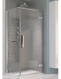 Aqualux Aqua 8 Hinge Pivot Door 800mm Polished Silver