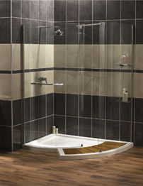 Aqualux Aquaspace Walk-Around Shower Enclosure 1500 x 1322mm