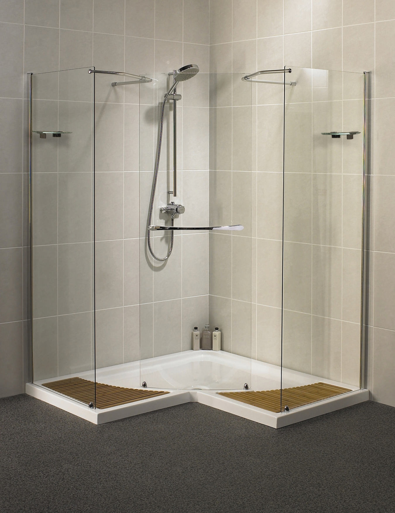 Aqualux Aquaspace Corner Walk Through Shower Enclosure 1500mm