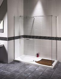 Aqualux Aquaspace Walk-In Shower Enclosure 1700mm x 900mm