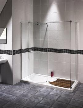 Aqualux Aquaspace Walk-In Shower Enclosure 1700mm x 900mm