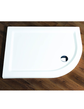 Aqualux Aqua 55 Off-Set Quadrant Shower Tray 1200mm x 800mm LH