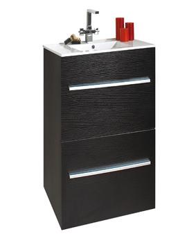 Phoenix Zola Floor Standing Vanity Unit And Basin 840 x 600mm
