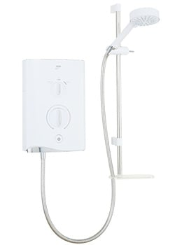 Mira Sport Multi-Fit Electric Shower 9.0kW White And Chrome