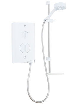 Mira Sport Electric Shower 10.8kW White And Chrome