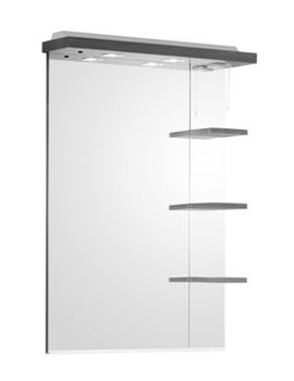 Roper Rhodes Ella 700mm White Finished Mirror, Shelves And Canopy