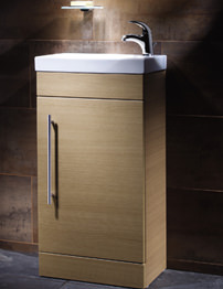 Roper Rhodes Esta Oak Finished Wash Unit And Ceramic Basin