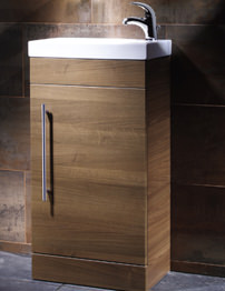 Roper Rhodes Esta Floorstanding Walnut Wash Unit And Ceramic Basin