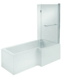 Trojan Elite Shower Bath With Shower Screen 1675 x 700mm