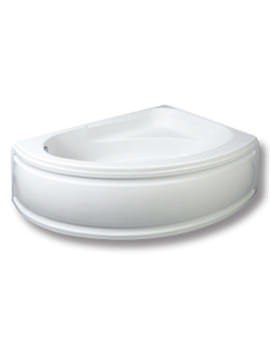 Trojan Florida White Left Handed Offset Corner Bath 1495 x 1030mm