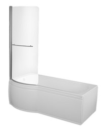 Trojan Concept Shower Bath 1675 x 750mm With Bath Screen