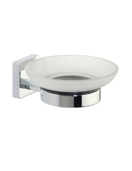 Roper Rhodes Glide Frosted Glass Soap Dish And Holder