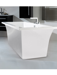 Phoenix Assai Freestanding Bath With White Surround 1800 x 800mm