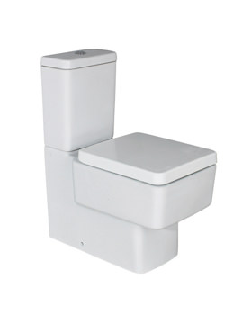 Phoenix Qube 625mm Modern Back to Wall Close Coupled Design Toilet