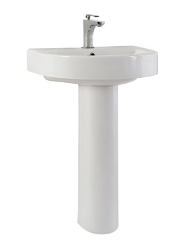 Phoenix Forma Round Basin With Pedestal 560mm