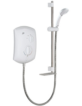Mira Jump Electric Shower 10.8KW White And Chrome