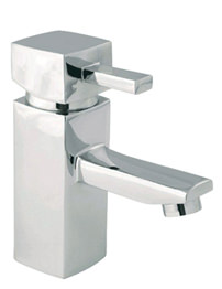 Balterley Cube Chrome Basin Mixer Tap With Click-Clack Waste