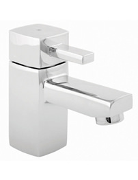 Beo Cube Chrome Mini Basin Mixer Tap With Cilck-Clack Waste