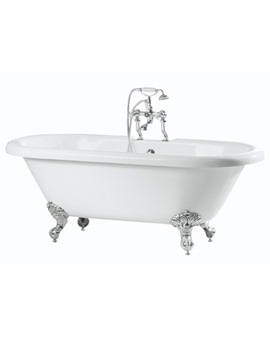 Phoenix Traditional Double Ended Roll Top Bath 1700 x 750mm With Feet