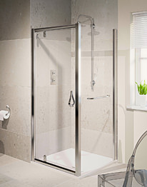 Aqualux Aqua 6 Pivot Shower Door 760mm Polished Silver