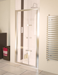 Aqualux Aqua 6 Bi-Fold Shower Door 800mm Polished Silver