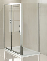 Aquadart Venturi 1400mm Sliding Shower Door