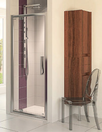 Aqualux Aqua 8 Glide Pivot Shower Door 900mm Polished Silver