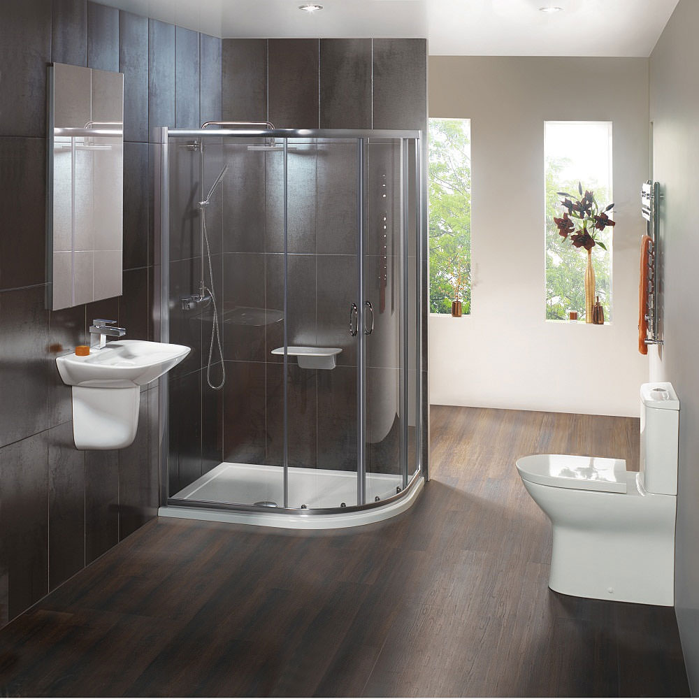Bathroom Suites And Shower Enclosures From Plumbworld 2015 Home Design Ideas