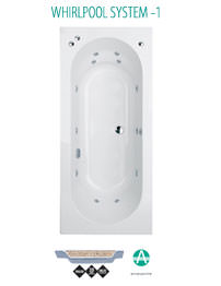 Phoenix Florence Amanzonite Double Ended Whirlpool Bath System 1