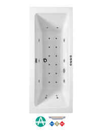 Phoenix Rectangularo 5 Amanzonite DE Whirlpool And Airpool Bath 1800x800mm