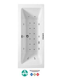 Phoenix Rectangularo 5 Amanzonite DE Whirlpool And Airpool Bath 1800x800mm